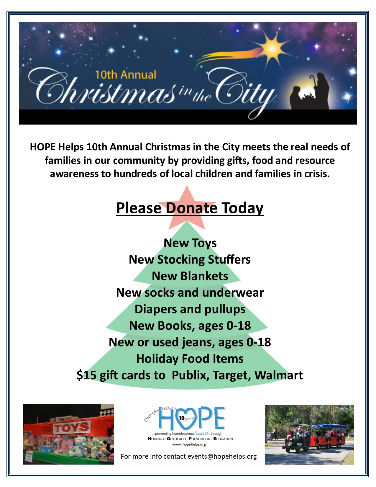 Christmas in the City – 2017 Donation Box Locations