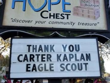 Eagle Scout Project: Carter Kaplan
