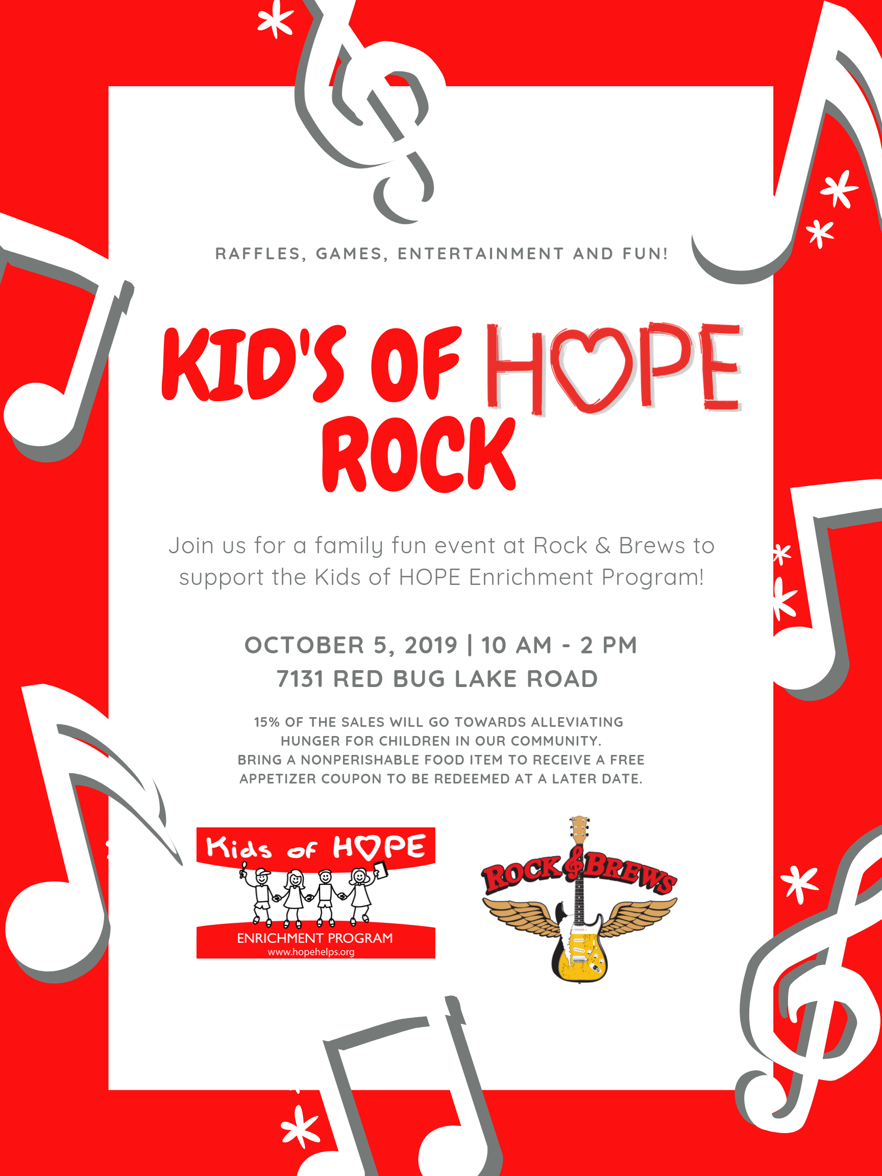 Join us at Rock & Brews at the Kids of HOPE Rock Event!